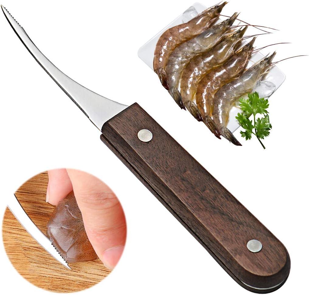 Vonty Shrimp Deveiner Tool Knife Denver 100% quality warranty! Mall Cleaner Stainless Steel