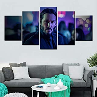 HNFSSK Canvas Painting John Wick Movie Poster 5 Pieces Hd Wall Art and Prints Canvas Art Paintings Wall Pictures for Living Room Decor-SIZE1