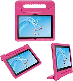 i-original Compatible with Lenovo Tab P10 10.1 Inch 2019 Case,Shockproof EVA Case for Kids Bumper Cover Handle Stand,Convertible Handle Lightweight Protective Cover (Magenta)