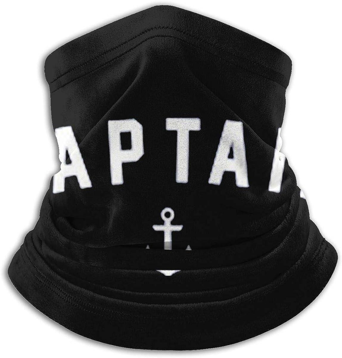 Captain Sailing Boat Black Multi-function Neck Warmer Gaiter Polyester Neck Warmer Windproof Winter Neck Gaiter Cold Weather Scarf For Men Women