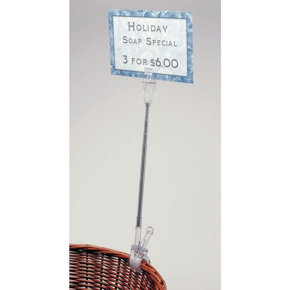 Hubert Clip San Antonio Mall On Sign Holder Clear Max 74% OFF to Plastic 11