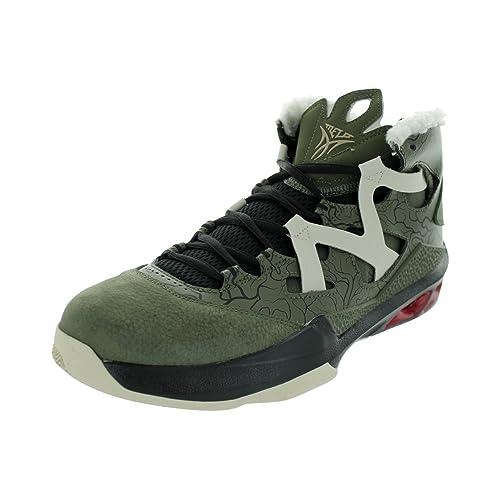 buy popular 66596 7c8d7 Nike Men s Jordan Melo M9 Crg Khk Mtllc Znc Gym Rd Blck Basketball