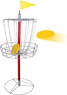 Oteymart Disc Golf Target Basket Goal Metal Portable Heavy Duty Frisbee Target Game Kit with Double Chains,Sport