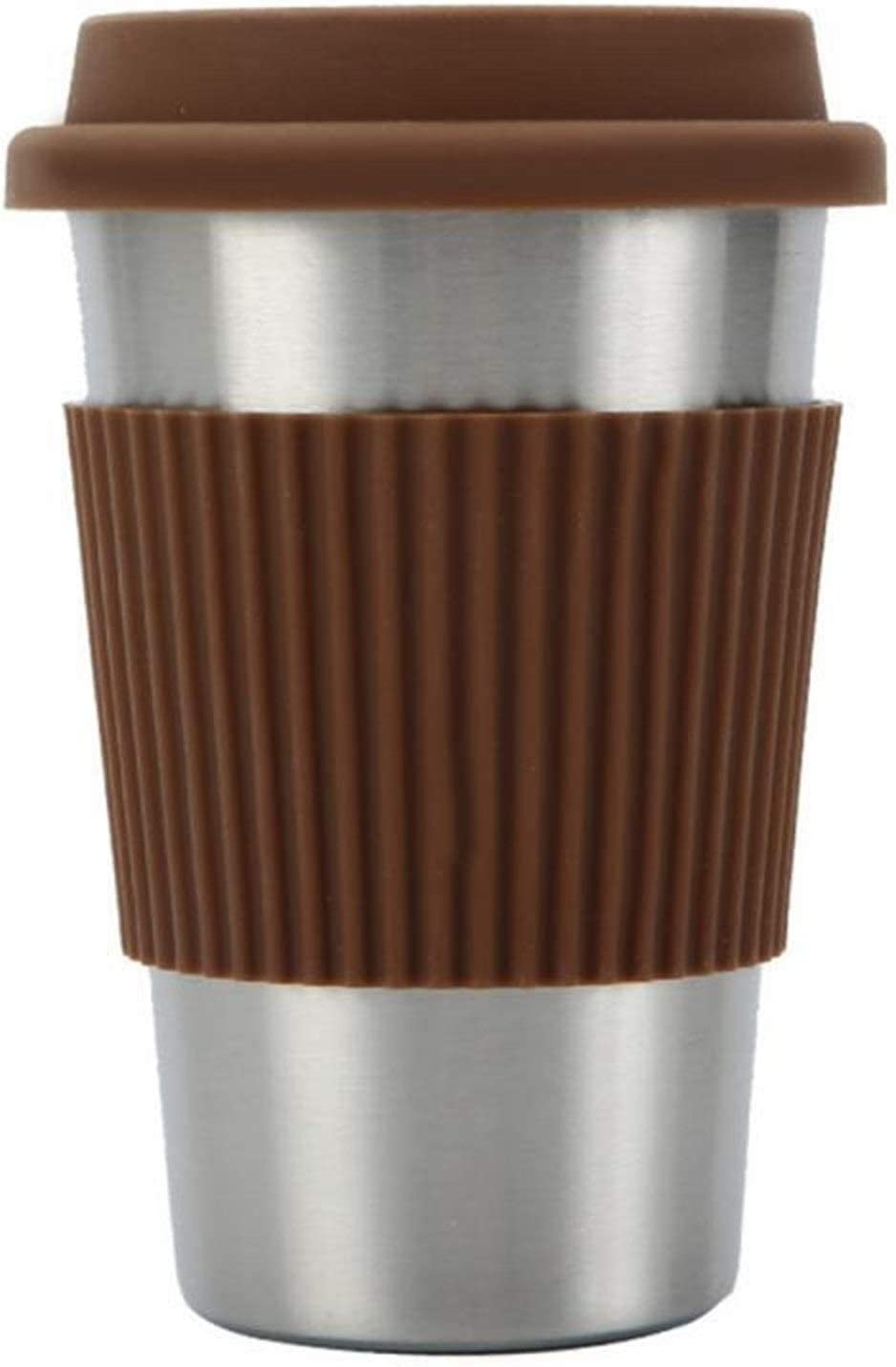 FZQSTZR Stainless Steel Max 40% OFF Coffee Cup Capacity Large Ranking integrated 1st place Portable Trave