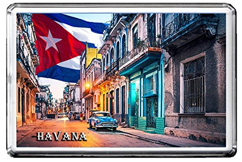 HAVANA FRIDGE MAGNET 002 THE CITY OF CUBA CALAMITA DA FRIGO