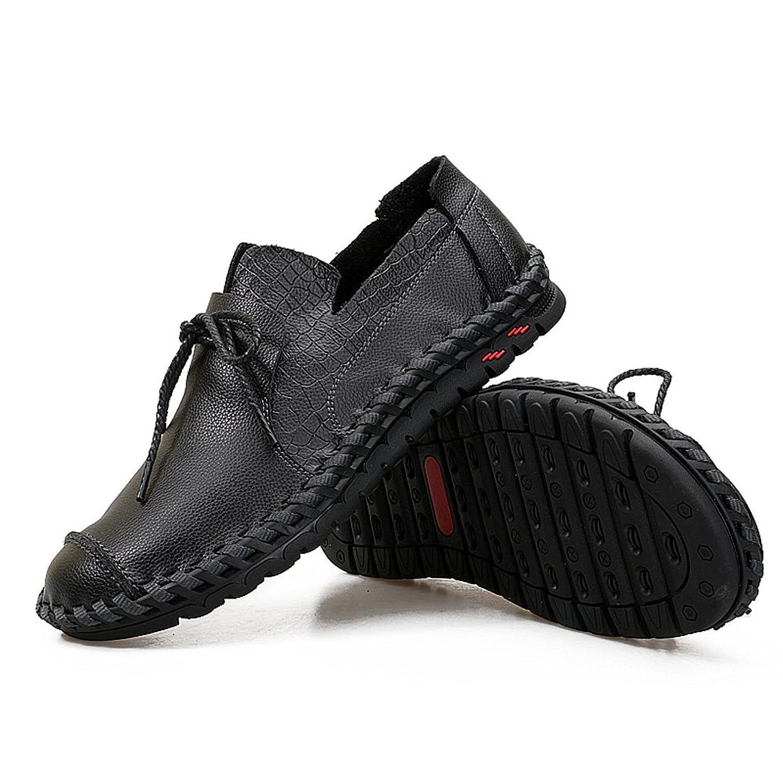 [Z.SUO] メンズ カジュアルシューズ デッキシューズ 革靴 ワークブーツ オックスフォードの靴 カジュアルシューズ ファッションスニーカー レースアップシューズ 通勤用 防滑