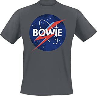 Amplified Clothing David Bowie 'to The Moon' (Charcoal) T-Shirt
