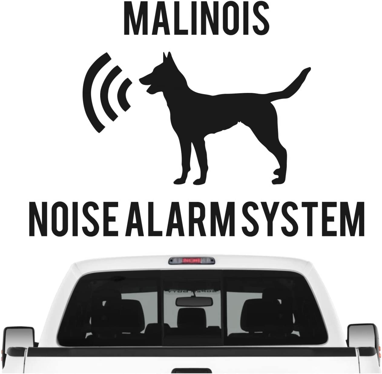 Siviwonder Malinois Noise Alarmsystem Auto Aufkleber Hund Folie Belgian Mali Berger Farbe Schwarz Matt Größe 10cm Auto