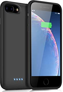 Battery Case for iPhone 8 Plus/7 Plus, [8500mAh] Xooparc Protective Portable Charging Case Rechargeable Extended Battery Pack for Apple iPhone 8 Plus&7 Plus (5.5') Backup Power Bank Cover - Black