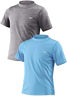 Speedo Boys 2 Pack Swim Tee Etheral Blue/Heather Grey