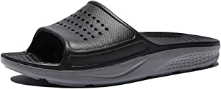 WODEBUY Men's Shower Sandals Antislip Fast Dry Flilp Flop Flats Bathroom and Gym Slider Sandals for Men