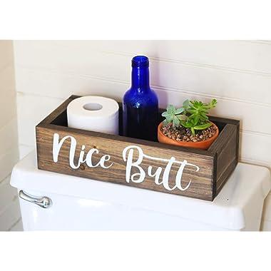 Nice Butt Bathroom Decor Box - Toilet Paper Holder - Farmhouse Rustic- Handmade in Boone North Carolina!