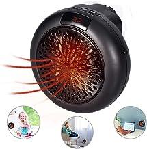 Mini Heater portátil Calentador - Estufa Eléctrica Portátil de Bajo Consumo, 1000 W con Enchufe Eléctrico, Ajustable de 15 a 32 °, Ideal para Hogar Oficina BañO  (Negro)