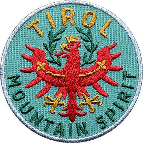 Club of Heroes 2 x Tirol Adler Patch 65 mm hochwertig gestickt/Aufbügler Aufnäher Flicken Bügelbild zum aufbügeln aufnähen/Österreich Tiroler Wappen Flagge Berge Wandern Reiseführer (Olive)