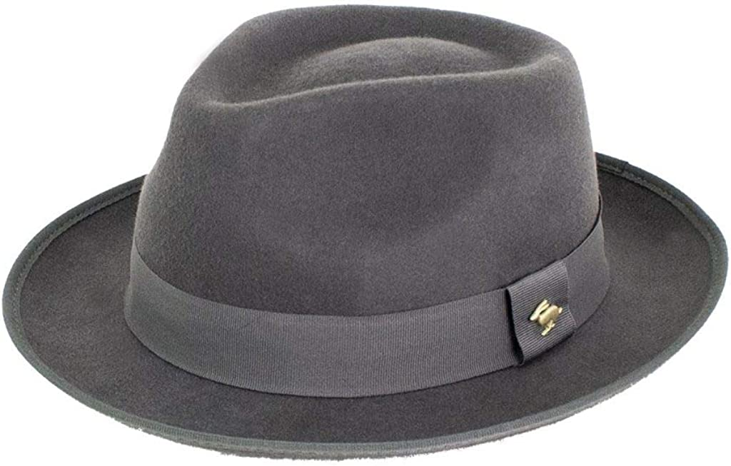 Peter Grimm 2021 spring and summer new Silver Fedora Felt Cheap mail order specialty store