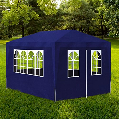 Shengfeng Gazebo da Esterno Tenda per Feste 3 x 4 m Pannelli Blu.Gazebo Pieghevole Gazebo da Giardino Gazebo eurolandia Gazebo Esterno Gazebo Impermeabile