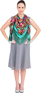 Women Scarf Vintage Trendy Square Warm Floral Scarves Shawl