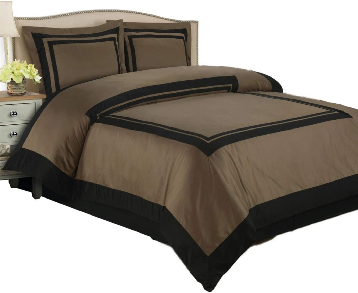 6 Piece Hotel Regular discount Bed-in-A-Bag: Cheap super special price Twin Size 100% Cotton 300TC- Taupe