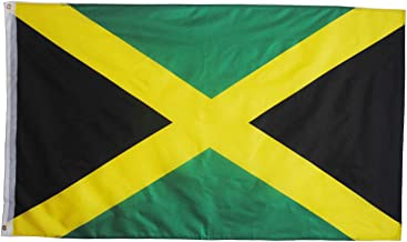 Ashley ZC Jamaica Polyester Flags 3x5 Ft, Jamaican National Flag with Brass Grommets - Bright Color and UV Protection