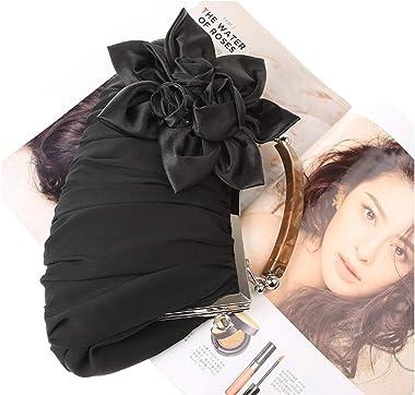 Retro Rose Flower Ornamento con cadena fiesta fecha boda mujeres