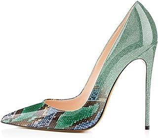 6a52a24b87 onlymaker Women's Pointed Toe Stilettos High Heel Slip On Dress Pumps Court Shoes  Pumps High Heel