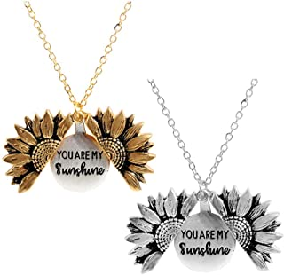 Best rose gold sunflower necklace Reviews