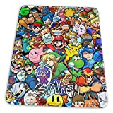 Super Mario Zelda Sonic Pikachu Smash Bros Kirby Mouse Mat Pad Unique Custom Mousepad Computer Keyboard Stitched Edges Large Gaming Mouse Pats Office, Ideal for Desk Cover PC and Laptop 10x12 Inch