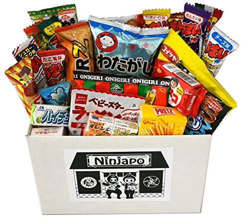 """Assorted Japanese Junk Food Snacks """"Dagashi"""" 30pcs Ninjapo Package Sweets Candy """"NT6000234"""""""