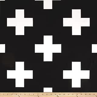 black and white swiss cross fabric