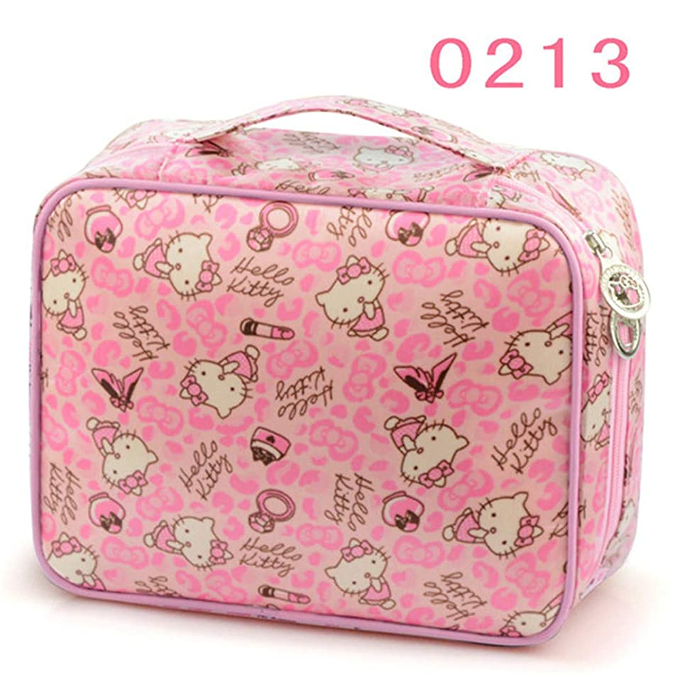 Girl's Big Cosmetic Bag Case Women's Travel Bra Underwear Storage Pouch Organizer Beauty Vanity Toiletry Makeup Box