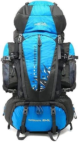 XMUEI 80L Grande Capacité Sac d'alpinisme Professionnel Sports De Plein Air Sac à Dos Nylon Imperméable Sac à Dos De Randonnée (Couleur   A)