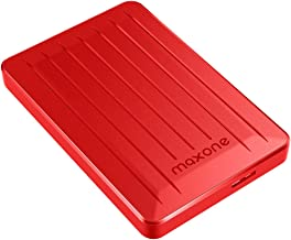 160GB External Hard Drive - Maxone Upgrade 2.5'' Portable HDD USB 3.0 for PC, Laptop, Mac, Chromebook, Smart TV - Red