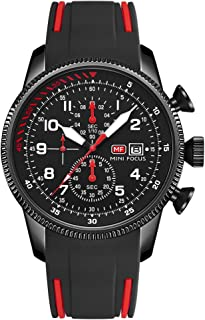 Andoer Classic Men Quartz Watch Analog Chronograph Wrist Watch with Calendar 3ATM Waterproof Luminous Pointer with Silicon...