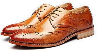 Color : Marron, Taille : 38 EU 2018 Chaussures daffaires Formelles pour Hommes Classique Matte en Cuir PU Haut Lacets Oxford Doubl/és Respirant Richelieus Homme