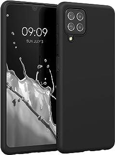 جراب TPU من kwmobile متوافق مع Samsung Galaxy A22 4G - جراب هاتف مرن ورفيع ورفيع ناعم - أسود غير لامع