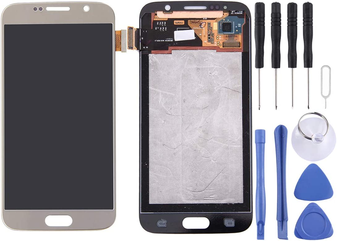 Go G9208//SS G920A G9209 JIALIZ Mobile Accessories Screen Replacement Repair Kit,LCD Screen and Digitizer Full Assembly for Galaxy S6 // G9200 G920FD G920FQ G920 G920F G920T G920K G920S G9208