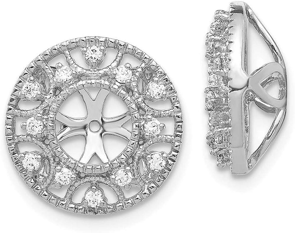 Jewels By Lux 14k White Gold Diamond Earring Jacket