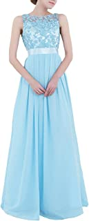 iiniim Women's Lace Crochet Party Prom Gowns Bridesmaid Long Evening Dress