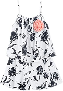 LittleSpring Little Girls' Clothing Shorts Set Flower
