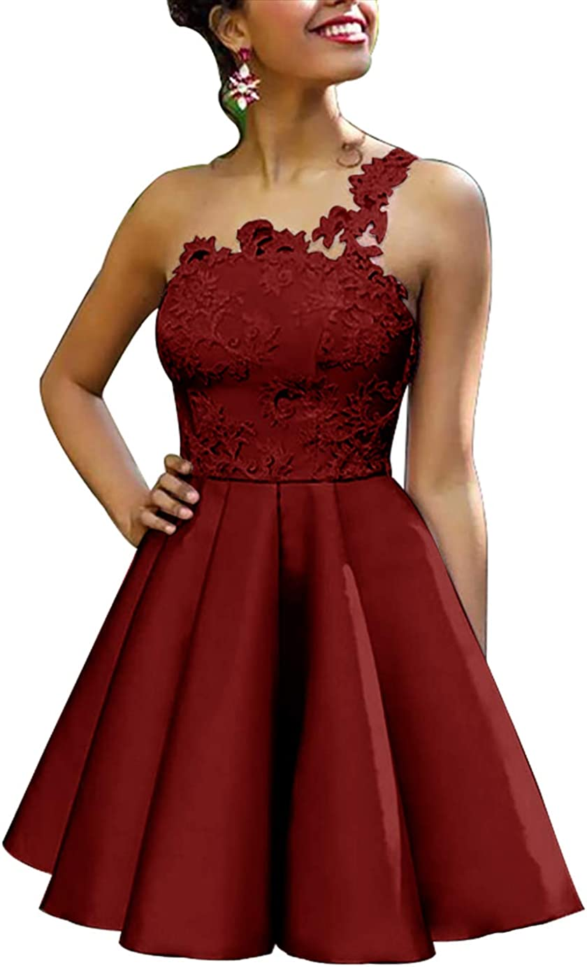 JAEDEN Homecoming Dress Short Prom Dress One Shoulder Cocktail Party Dress A Line Homecoming Dresses