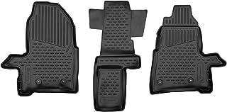 Fijaciones A Medida Negro de goma durable Coche Tapetes Para Ford Tourneo Custom