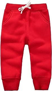 Unisex Toddler Jogger Pants Kids Cotton Elastic Waist Winter Baby Sweatpants Pants 1-5Years