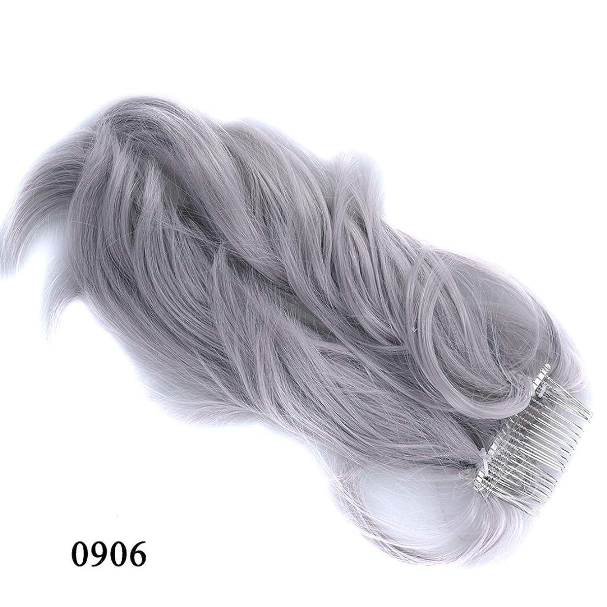 大邸宅テレマコスくJIANFU かつらヘアリング様々な柔軟なポニーテールメタルプラグコムポニーテール化学繊維ヘアエクステンションピース (Color : 0906)
