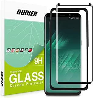 OUNIER Galaxy S8 Tempered Glass Screen Protector [Easy Installation] [Case-Friendly] Update Version, Samsung S8 Screen Protector with Installation Tray for Galaxy S8