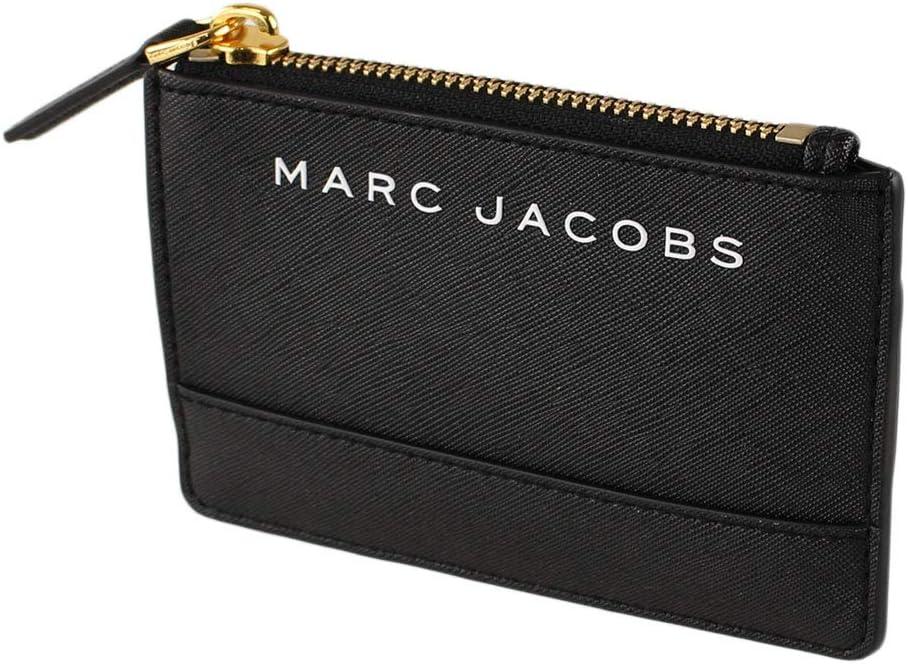Marc Jacobs M0015056 Black Gold Large-scale sale Wallet Zip Women's Hardware Top online shop