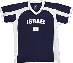 Amdesco Israel Country Flag Men's Soccer Style Sport T-Shirt