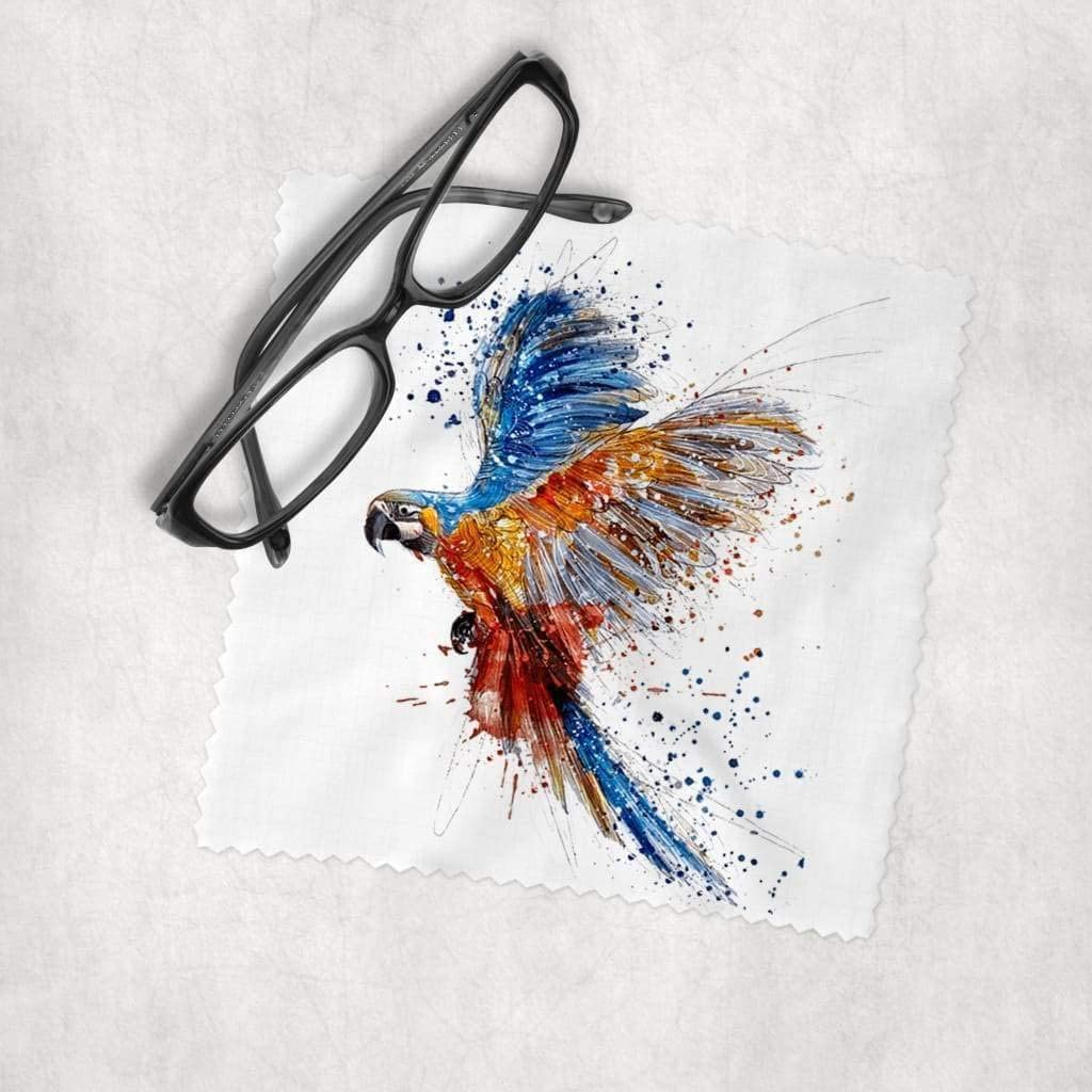 Watercolor New item Animals - Parrot Max 75% OFF Microfiber Cleaning Cloth Lens Cle