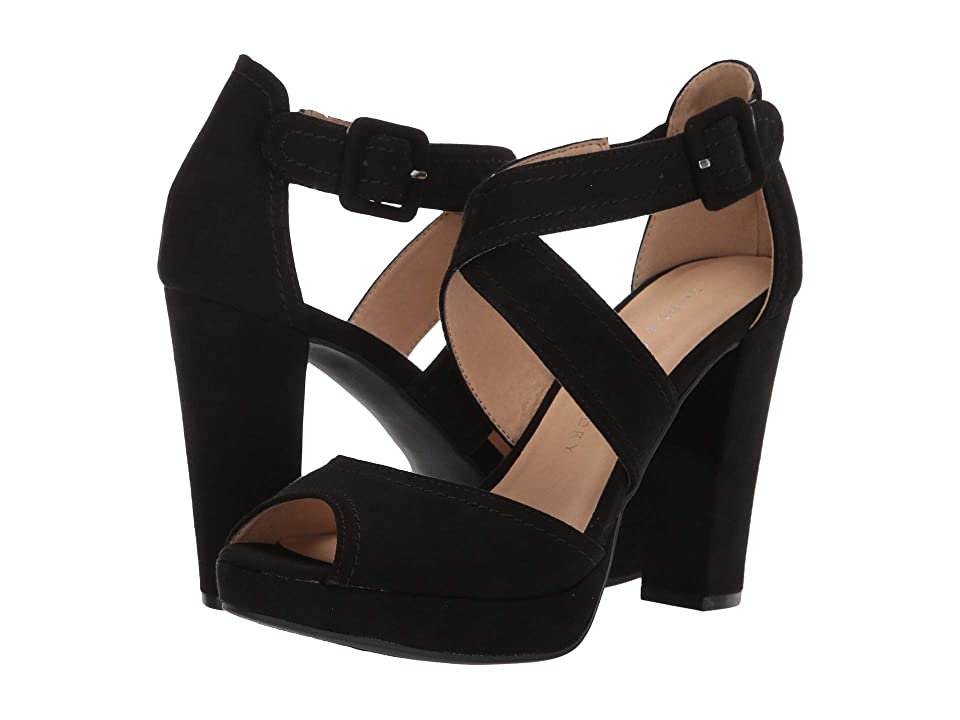 254a13b649 Chinese Laundry Abigail (Black Microsuede) High Heels