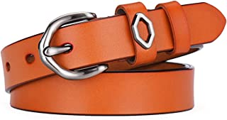 WMWLUO Belt Slim Little Girl Sweet Belt Student Clothing Decoration Lady Personality Pants Belt (Color : Orange)