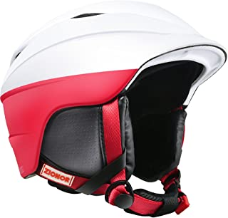 Zionor H2 Ski Snowboard Helmet Certified Quality for Men Women with Ventilation Control and Comfortable Liner
